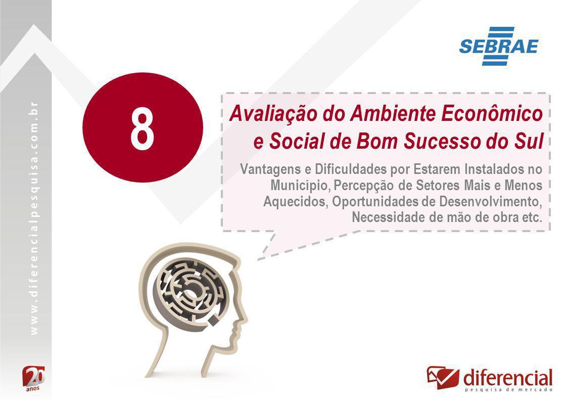 Avaliação do Ambiente Econômico e Social de Bom Sucesso do Sul