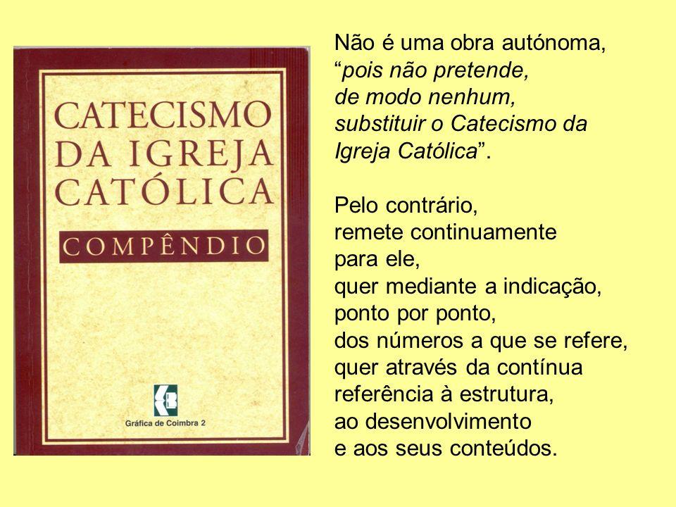 Não é uma obra autónoma, pois não pretende, de modo nenhum, substituir o Catecismo da Igreja Católica .