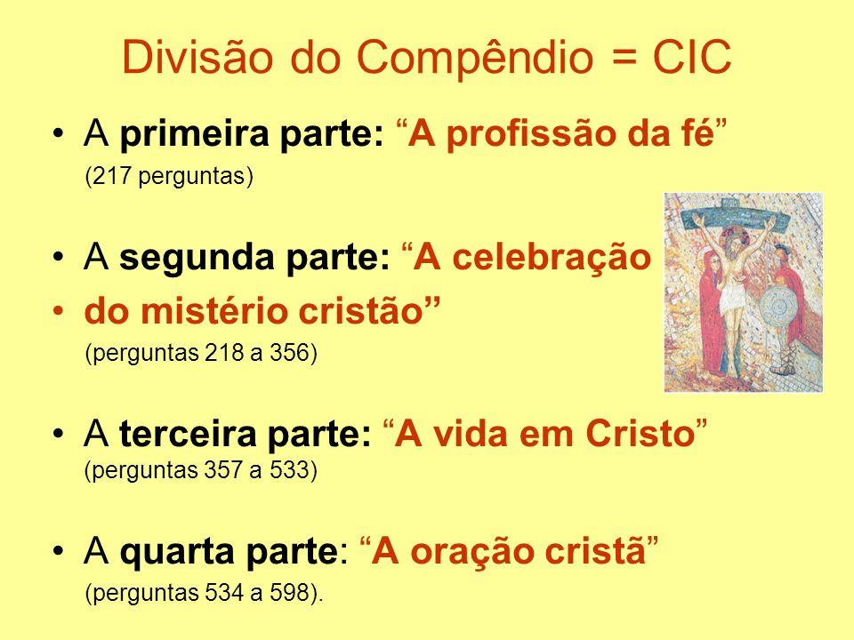 Divisão do Compêndio = CIC