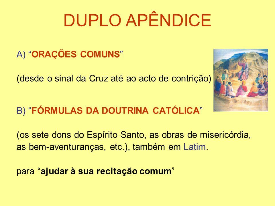 DUPLO APÊNDICE A) ORAÇÕES COMUNS