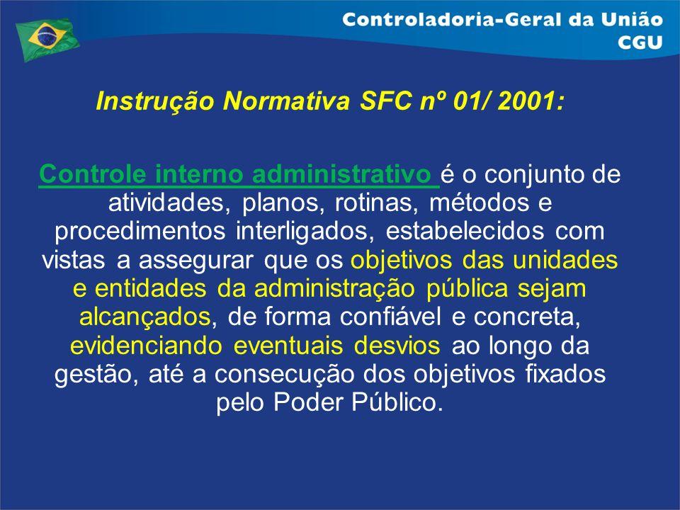 Instrução Normativa SFC nº 01/ 2001: