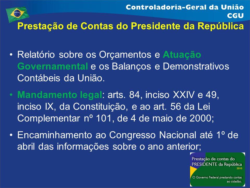 Prestação de Contas do Presidente da República