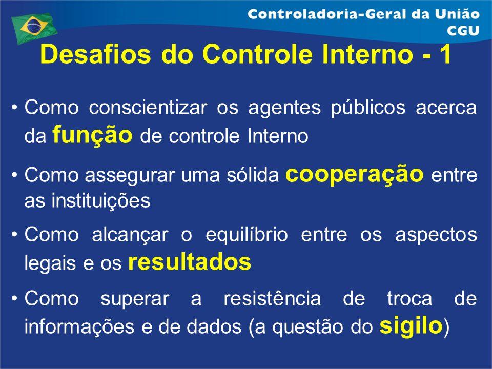 Desafios do Controle Interno - 1