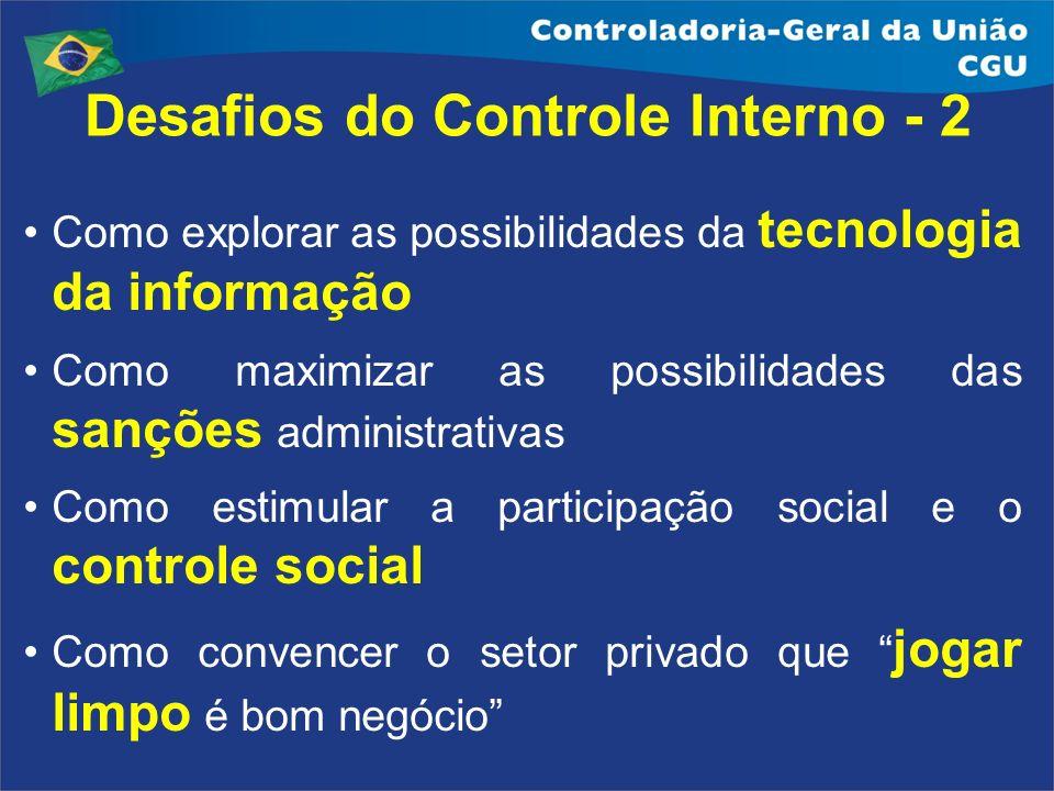 Desafios do Controle Interno - 2
