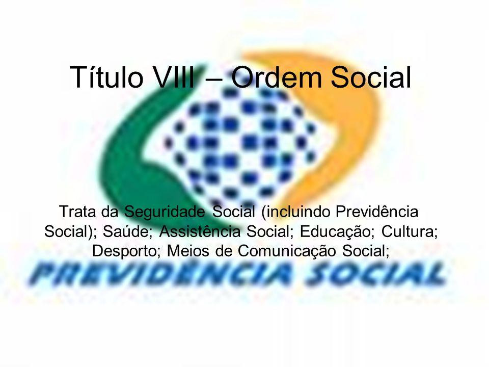 Título VIII – Ordem Social