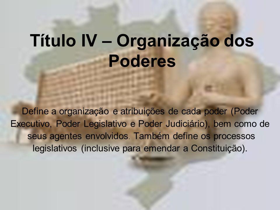 Título IV – Organização dos Poderes