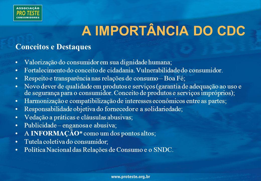 A IMPORTÂNCIA DO CDC Conceitos e Destaques
