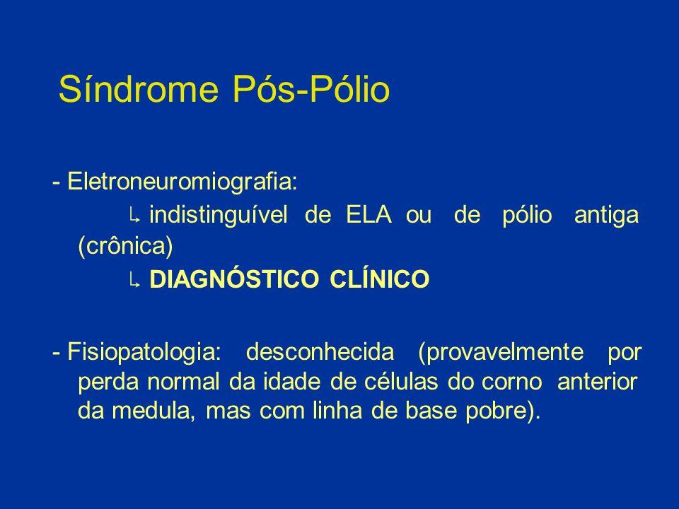 Síndrome Pós-Pólio - Eletroneuromiografia: