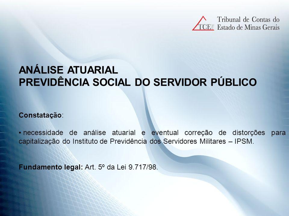 PREVIDÊNCIA SOCIAL DO SERVIDOR PÚBLICO