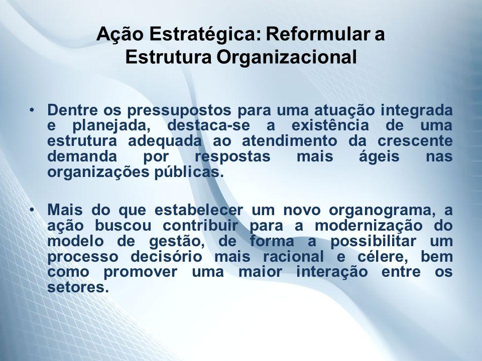 Ação Estratégica: Reformular a Estrutura Organizacional