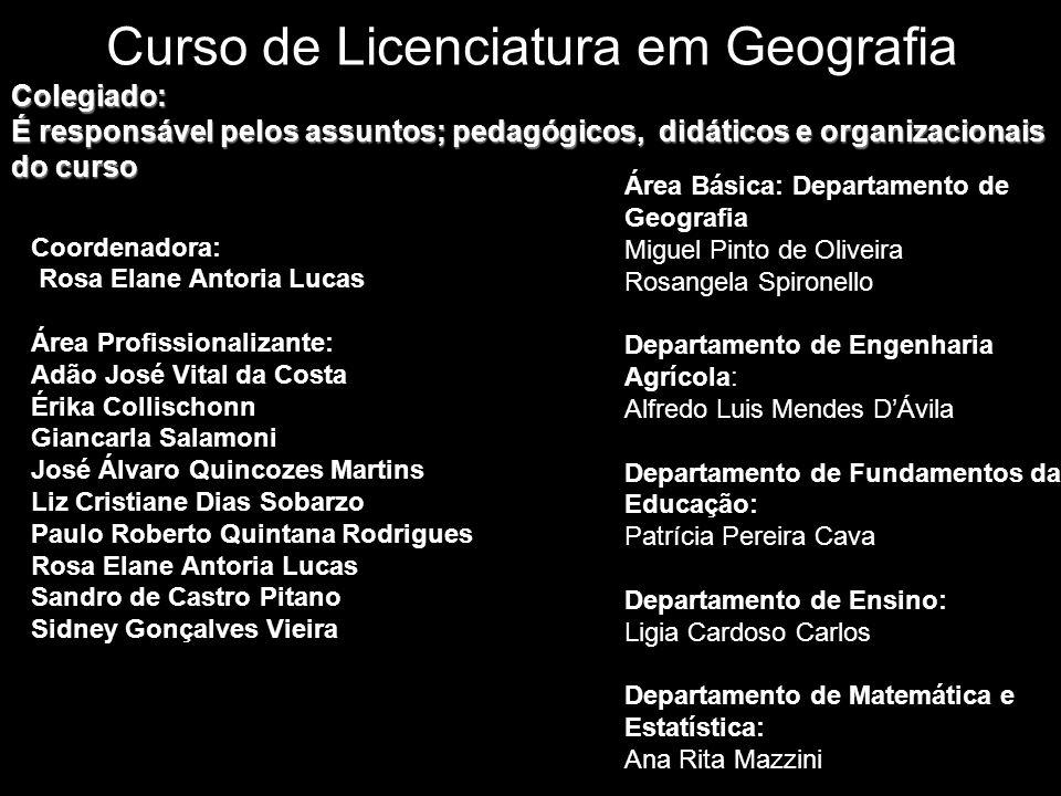 Curso de Licenciatura em Geografia