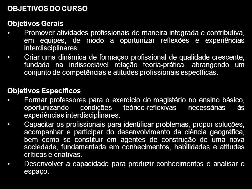 OBJETIVOS DO CURSO Objetivos Gerais.