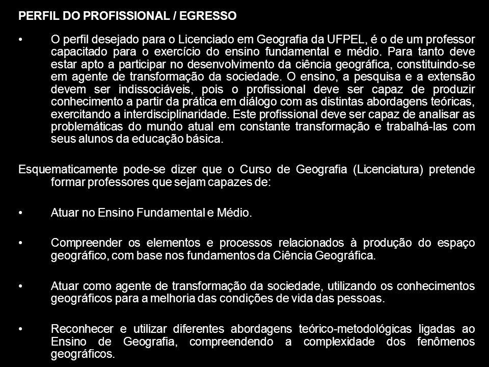 PERFIL DO PROFISSIONAL / EGRESSO