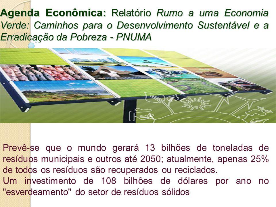 Agenda Econômica: Relatório Rumo a uma Economia Verde: Caminhos para o Desenvolvimento Sustentável e a Erradicação da Pobreza - PNUMA
