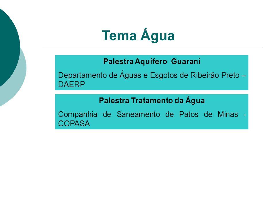 Palestra Aquífero Guarani Palestra Tratamento da Água