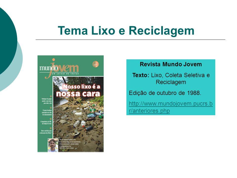 Texto: Lixo, Coleta Seletiva e Reciclagem