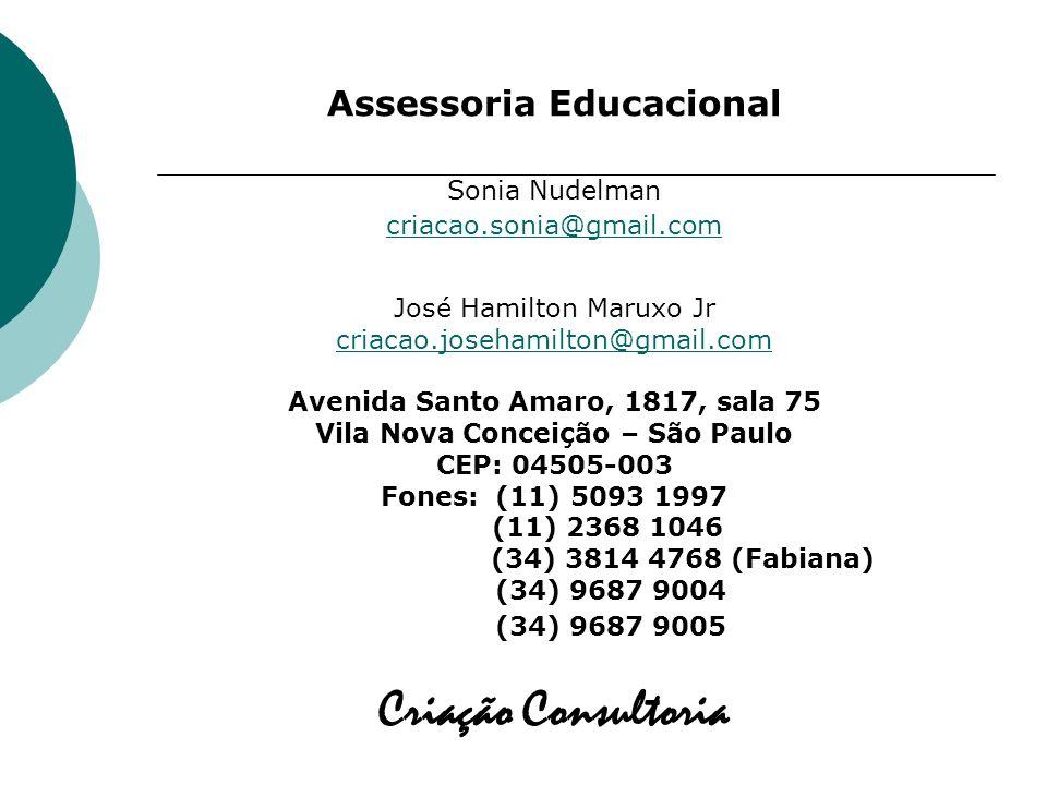 Criação Consultoria Assessoria Educacional Sonia Nudelman