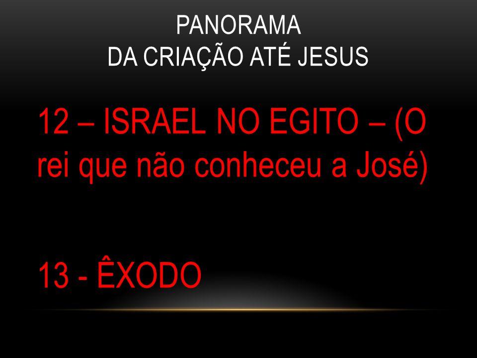 PANORAMA DA CRIAÇÃO ATÉ JESUS