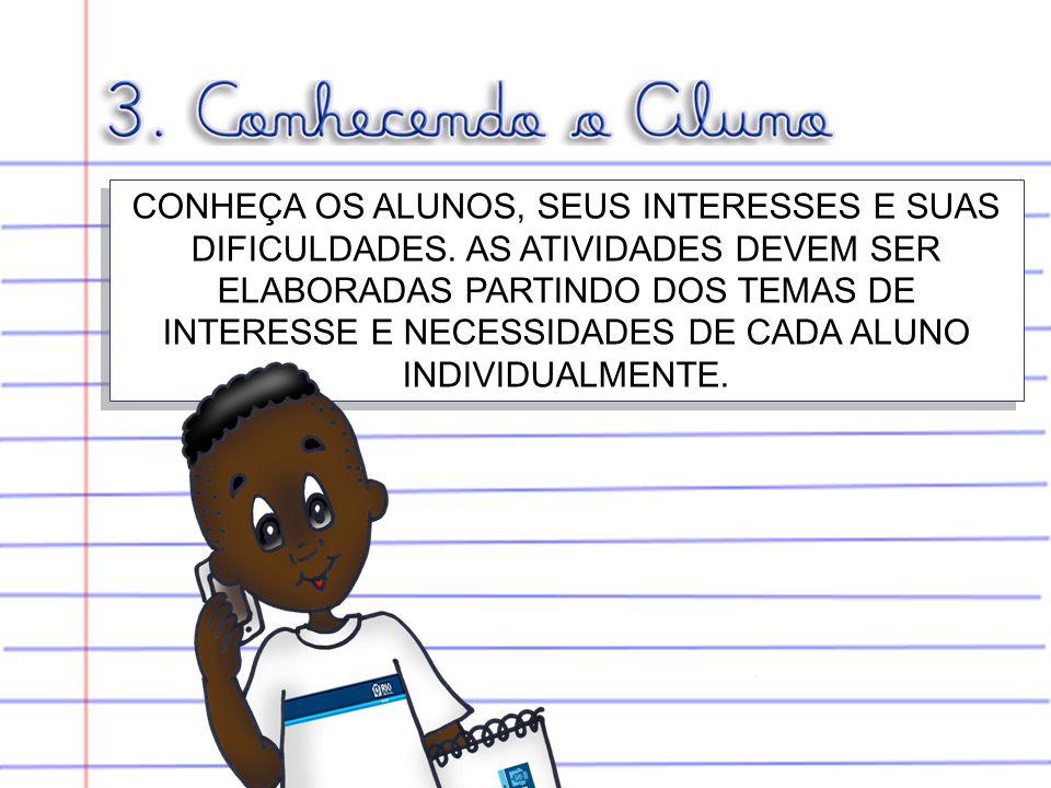 CONHEÇA OS ALUNOS, SEUS INTERESSES E SUAS DIFICULDADES