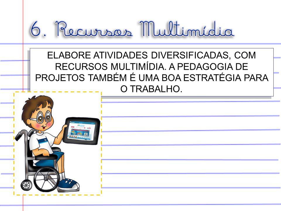 ELABORE ATIVIDADES DIVERSIFICADAS, COM RECURSOS MULTIMÍDIA