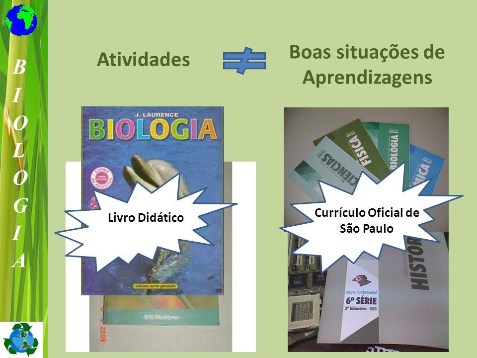 Boas situações de Aprendizagens Currículo Oficial de São Paulo