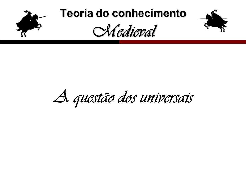 Teoria do conhecimento Medieval