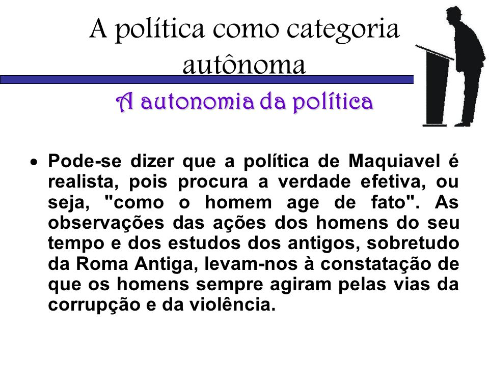A política como categoria autônoma