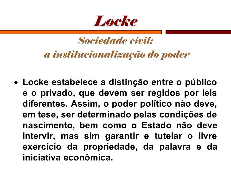 a institucionalização do poder