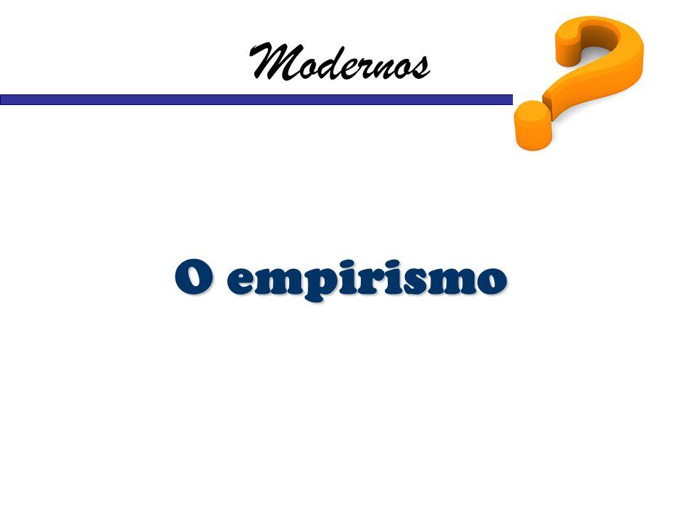 Modernos O empirismo