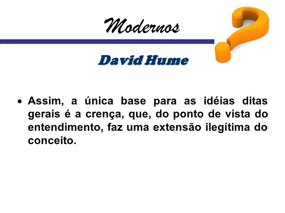 Modernos David Hume.