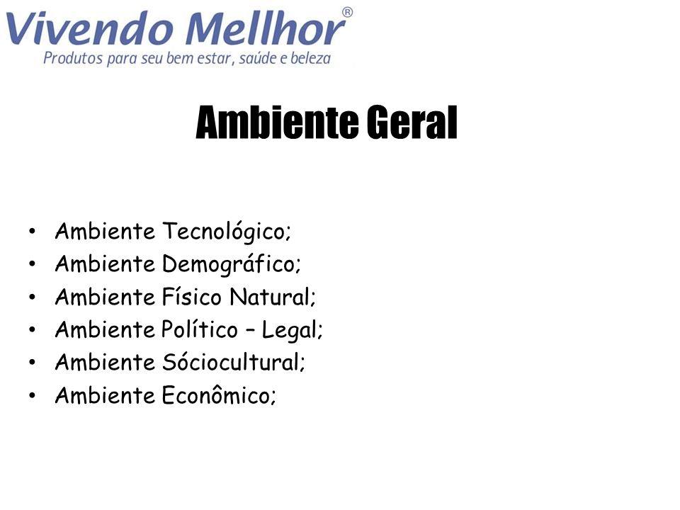 Ambiente Geral Ambiente Tecnológico; Ambiente Demográfico;