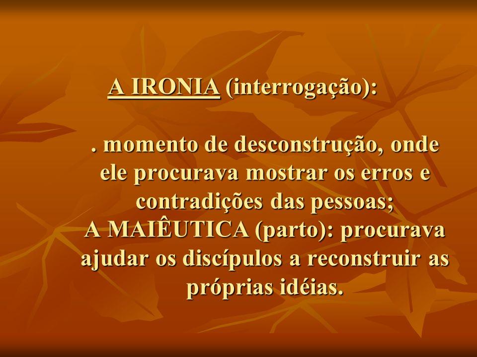 A IRONIA (interrogação):