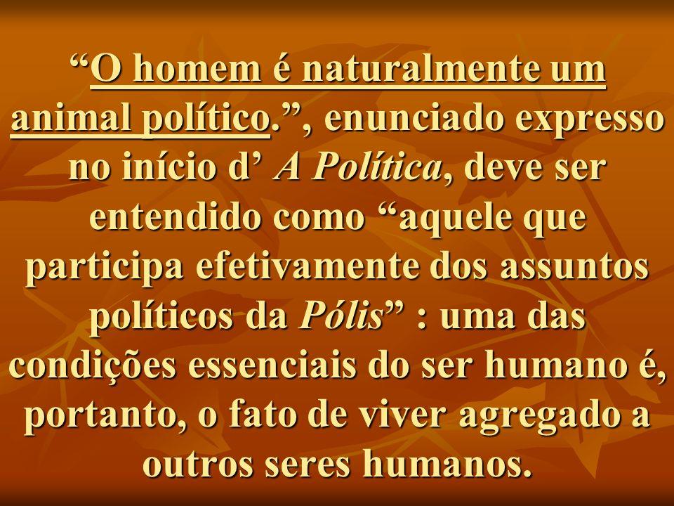 O homem é naturalmente um animal político