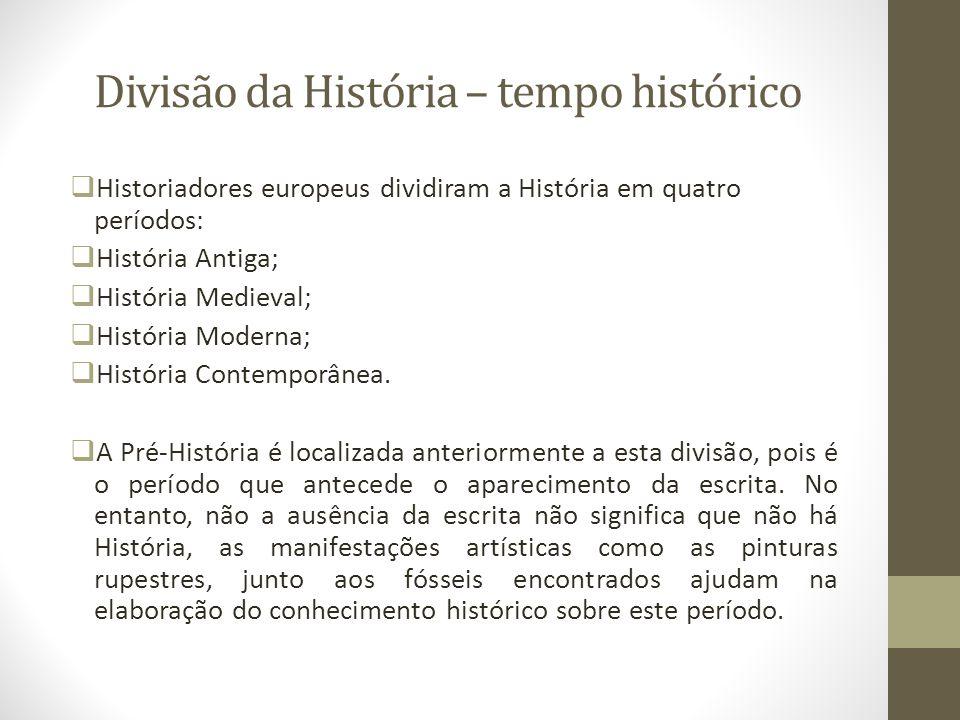 Divisão da História – tempo histórico