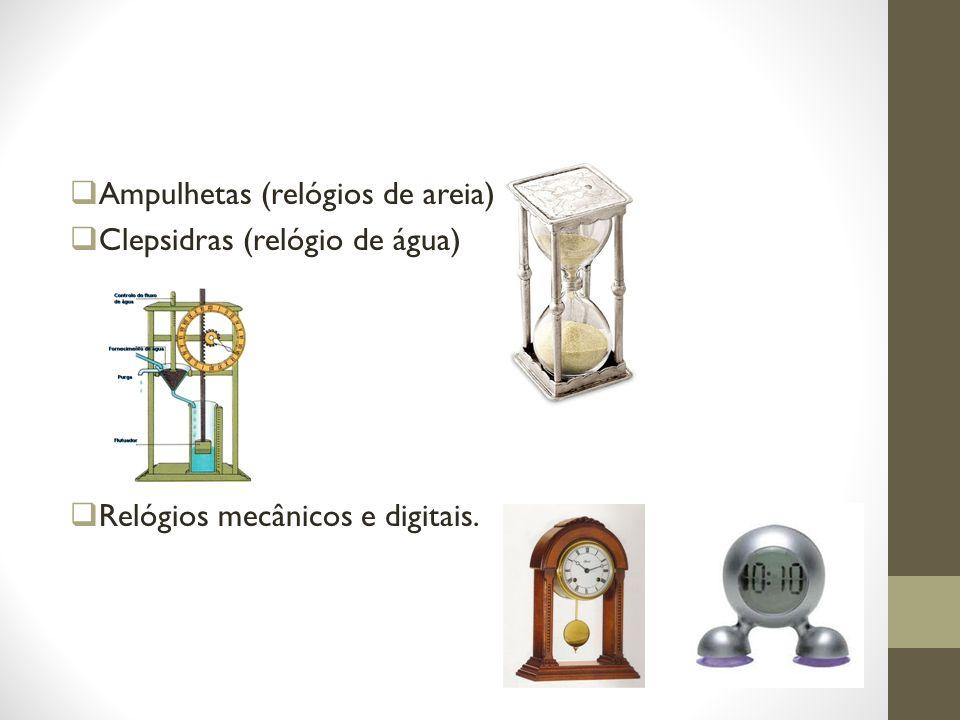 Ampulhetas (relógios de areia)