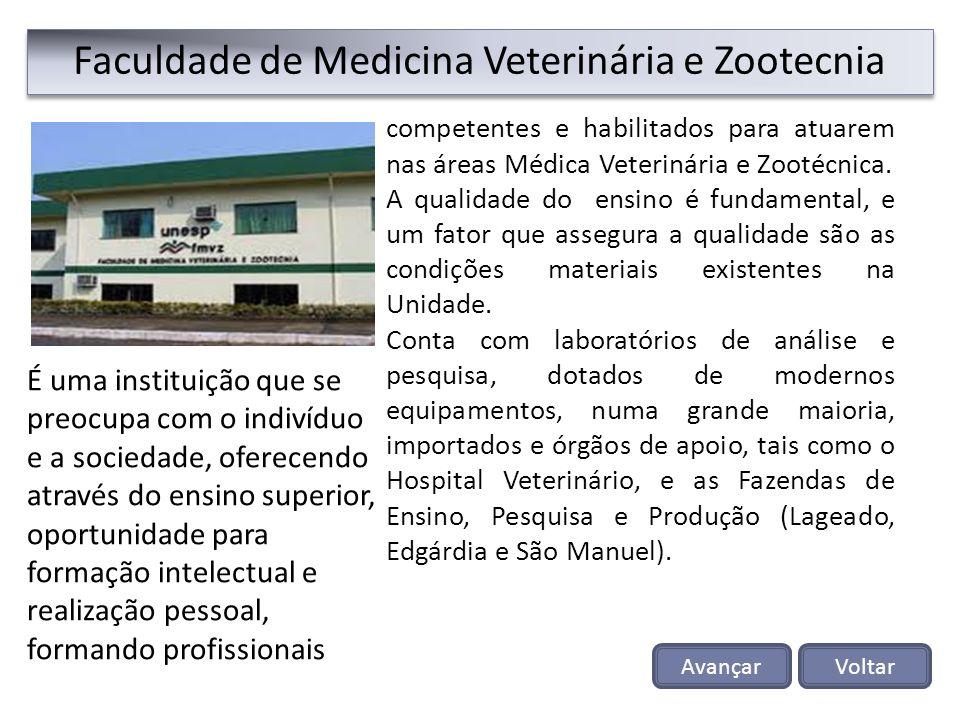 Faculdade de Medicina Veterinária e Zootecnia