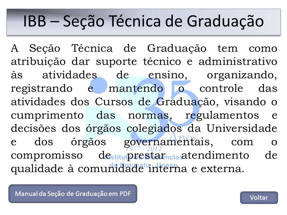 IBB – Seção Técnica de Graduação