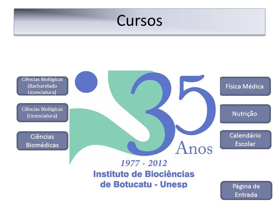 Cursos Física Médica Nutrição Calendário Escolar Ciências Biomédicas