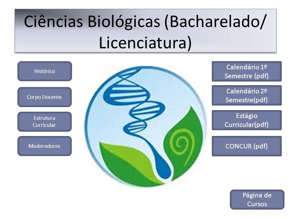 Ciências Biológicas (Bacharelado/ Licenciatura)