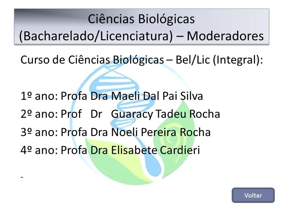 Ciências Biológicas (Bacharelado/Licenciatura) – Moderadores