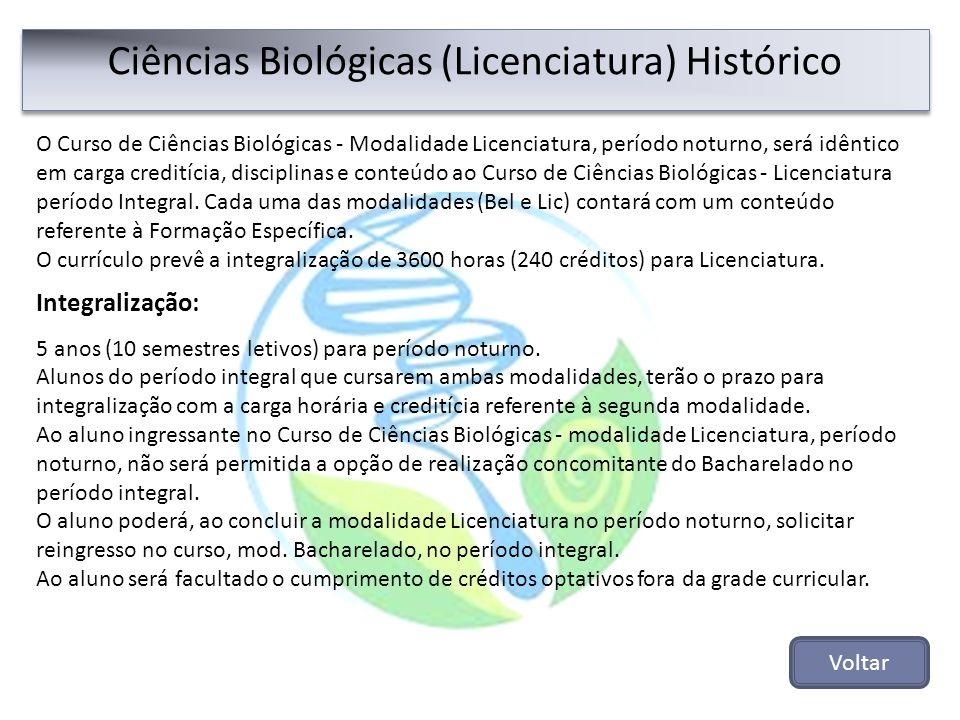 Ciências Biológicas (Licenciatura) Histórico