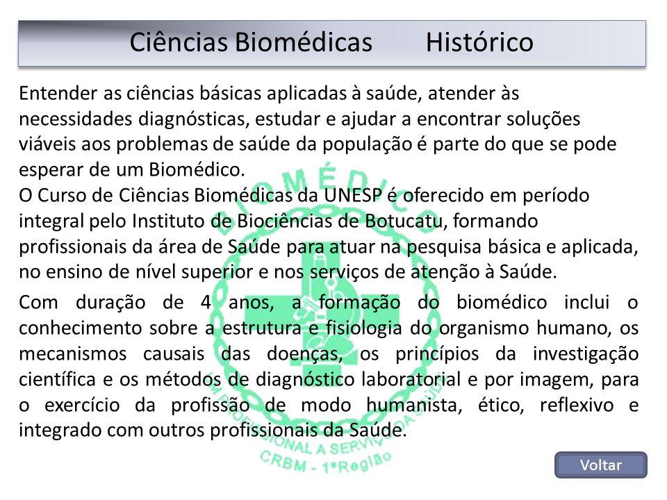 Ciências Biomédicas Histórico