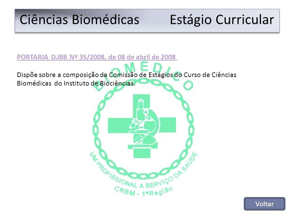 Ciências Biomédicas Estágio Curricular