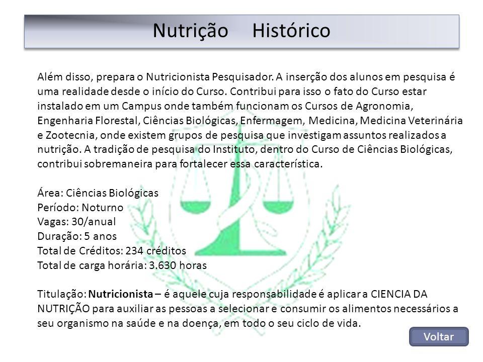 Nutrição Histórico