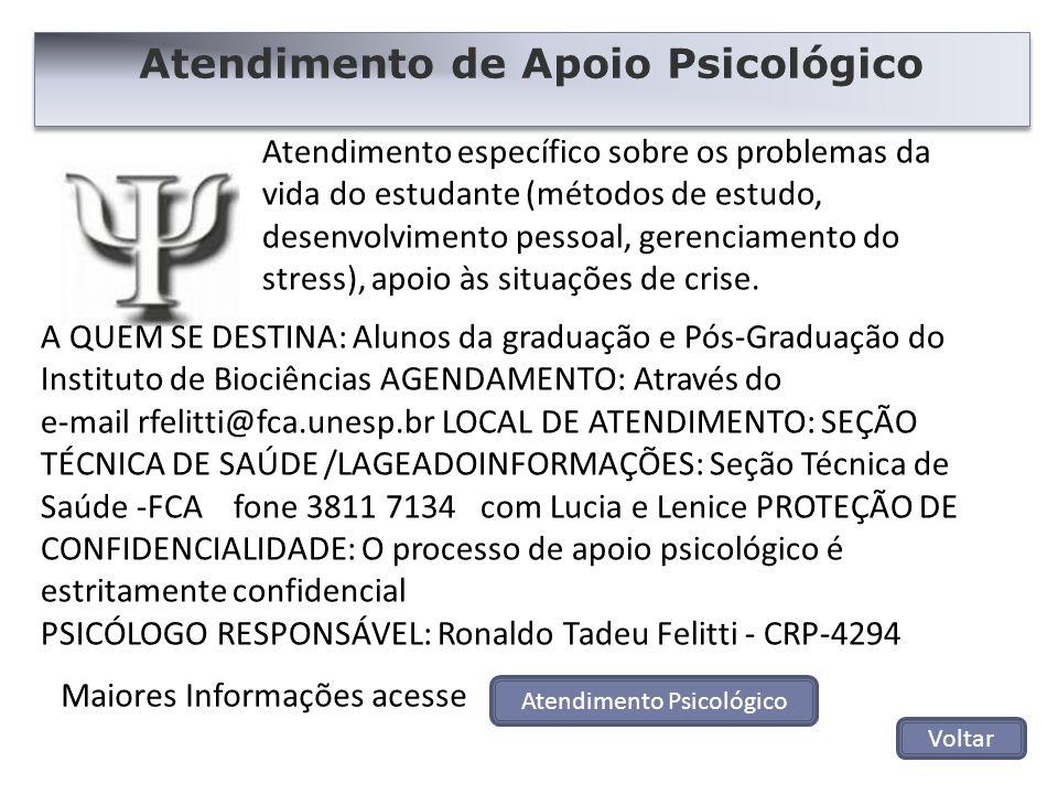 Atendimento de Apoio Psicológico