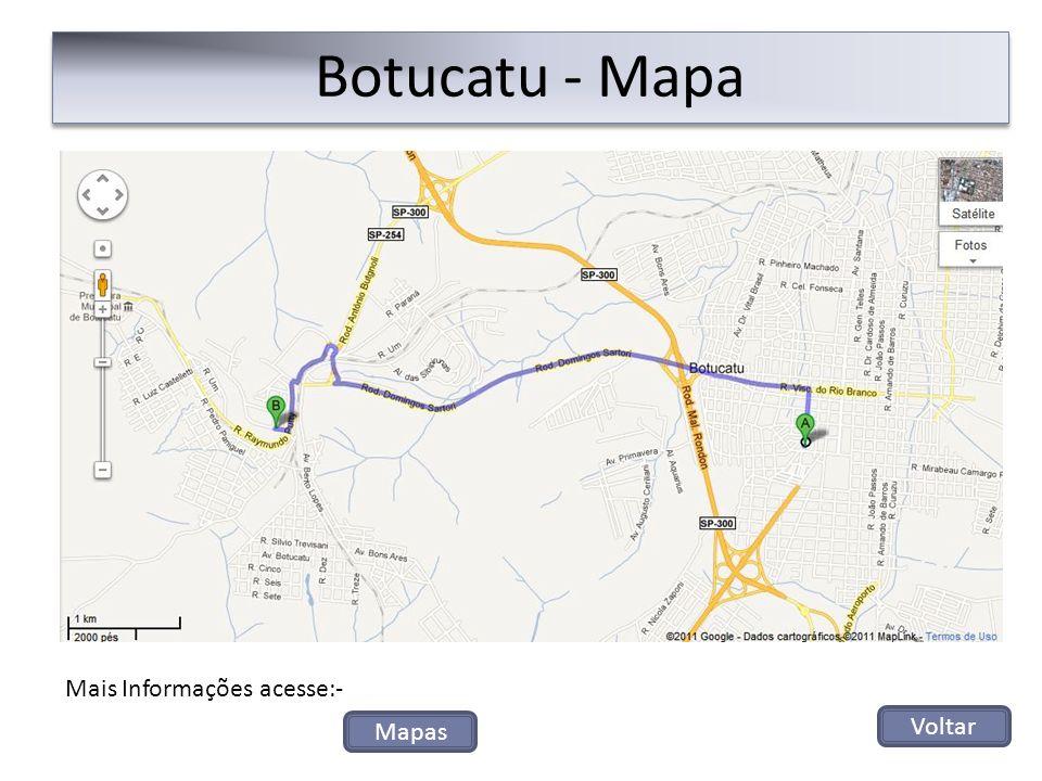Botucatu - Mapa Mais Informações acesse:- Mapas Voltar