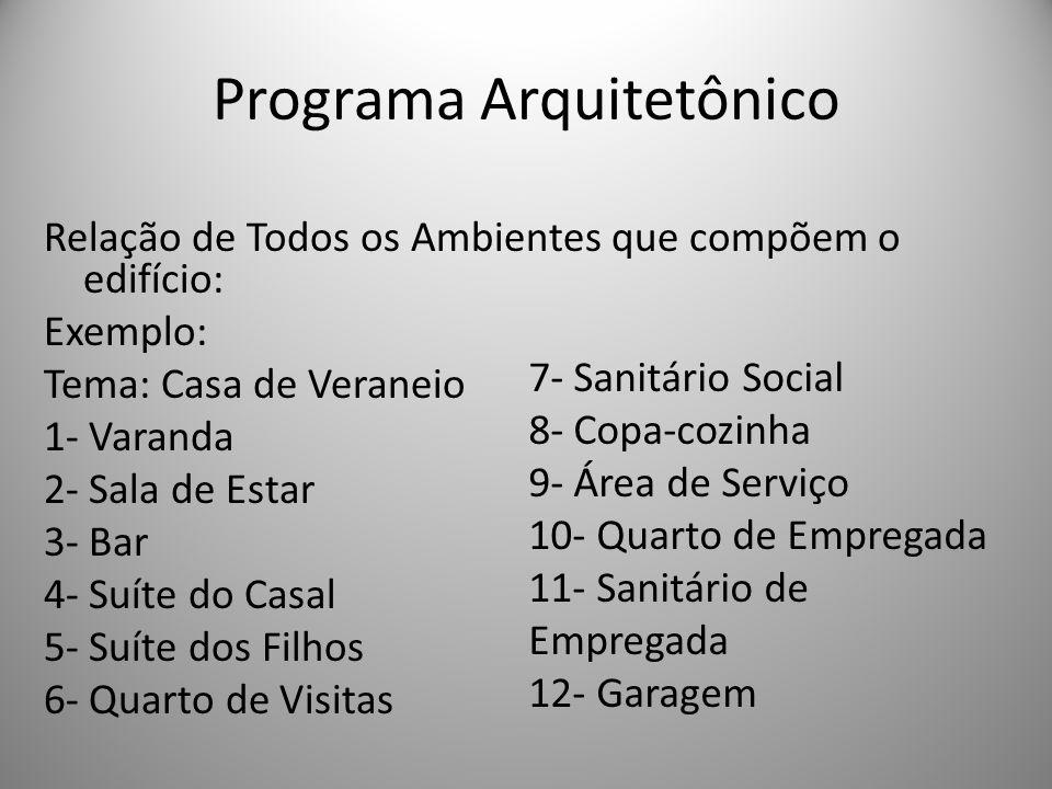 Programa Arquitetônico