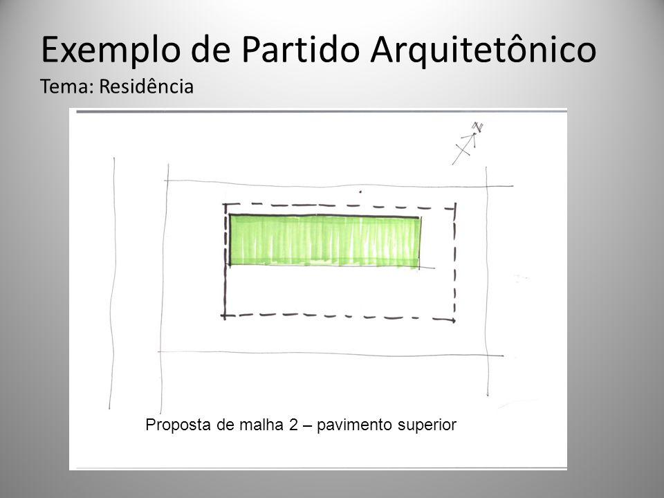 Exemplo de Partido Arquitetônico Tema: Residência