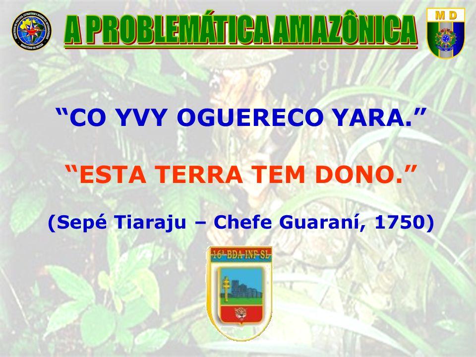 A PROBLEMÁTICA AMAZÔNICA (Sepé Tiaraju – Chefe Guaraní, 1750)