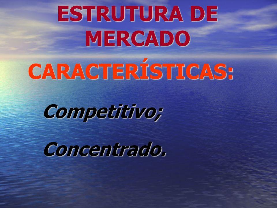 CARACTERÍSTICAS: Competitivo; Concentrado.